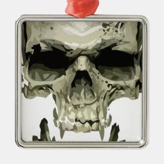 Vampirsschädel Silbernes Ornament