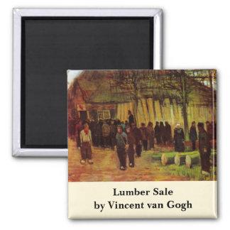 Van Gogh, Bauholz-Verkauf, Vintage Quadratischer Magnet