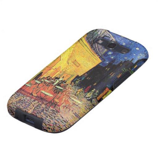 Van Gogh; Café-Terrasse nachts, Vintage feine Kuns Samsung Galaxy S3 Hüllen