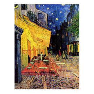 Van Gogh; Café-Terrasse nachts, Vintage feine Postkarte