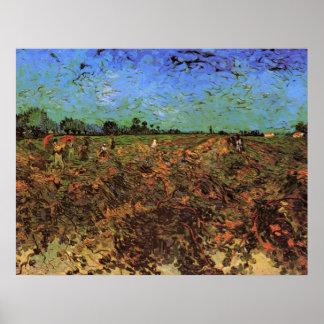 Van Gogh der grüne Weinberg, Vintage feine Kunst Poster