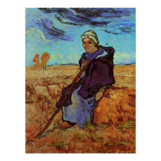 Van Gogh; Der Shepherdess, Vintager Poster