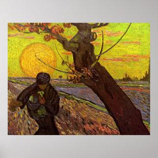 Van Gogh; Der Sower, Vintager Poster