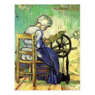 Van Gogh, der Spinner, Vintage Postkarte