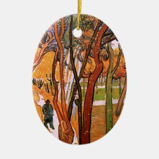 Van Gogh der Weg: Fallendes Blätter, Vintage Kunst Keramik Ornament