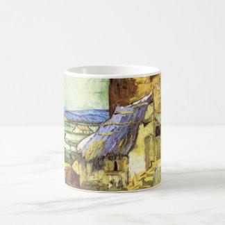 Van Gogh die alte Mühle, Vintage Landschaftsfeine Kaffeetasse