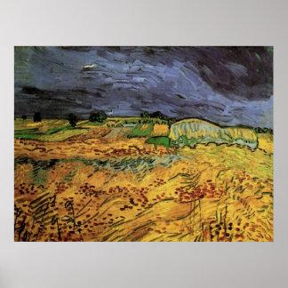Van Gogh die Felder, Vintage Landschaftsfeine Poster