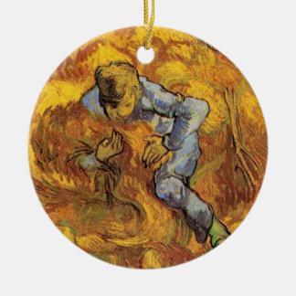 Van Gogh, die Garbe-Mappe, Vintager Keramik Ornament