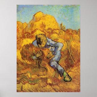 Van Gogh, die Garbe-Mappe, Vintager Poster
