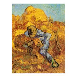 Van Gogh, die Garbe-Mappe, Vintager Postkarte