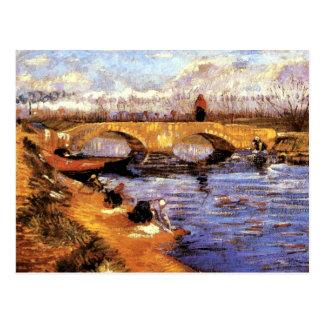 Van Gogh - die Gleize Brücke Postkarte