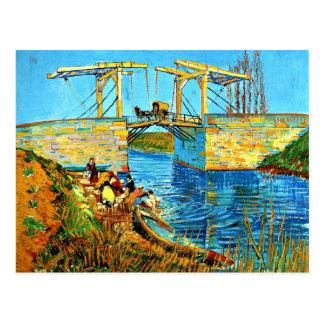 Van Gogh - die Langlois Brücke bei Arles mit Postkarte