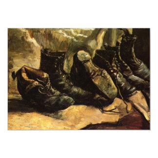 Van Gogh; Drei Paare Schuhe, Vintages noch Leben Ankündigungen