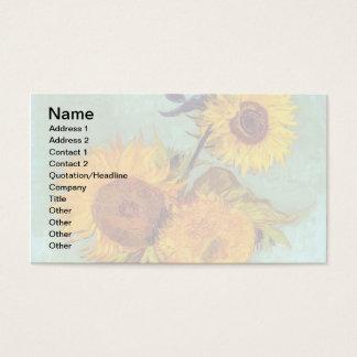 Van Gogh - drei Sonnenblumen in einem Vase - Visitenkarte