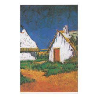 Van_Gogh_-_Drei_weiße_Hütten_in_Saintes-Maries Briefpapier