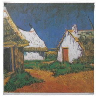 Van_Gogh_-_Drei_weiße_Hütten_in_Saintes-Maries Serviette