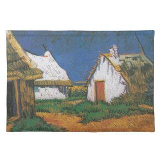 Van_Gogh_-_Drei_weiße_Hütten_in_Saintes-Maries Stofftischset
