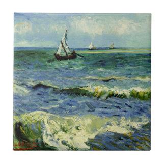 Van Gogh - ein Fischerboot in Meer Fliese