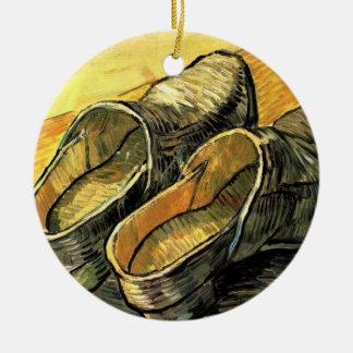 Van Gogh; Ein Paar lederne Klötze Keramik Ornament
