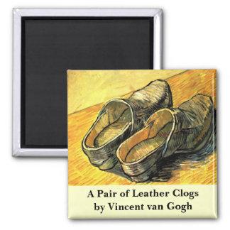 Van Gogh; Ein Paar lederne Klötze Quadratischer Magnet