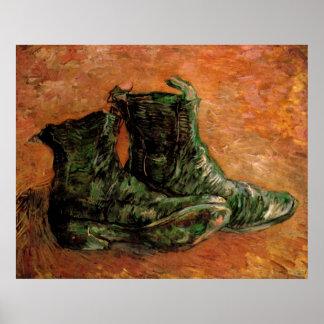 Van Gogh, ein Paar Schuhe, Vintages noch Leben Poster