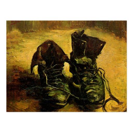 Van Gogh ein Paare Schuhe, Vintage noch Postkarten