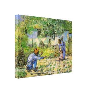 Van Gogh, erste Schritte, Vintage Leinwanddruck