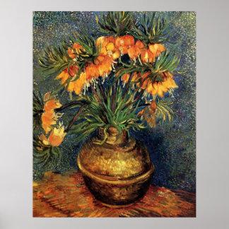 Van Gogh; Fritillaries in einem kupfernen Vase Poster