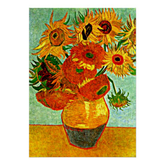 Van Gogh geliebte Sonnenblumen (12) Poster