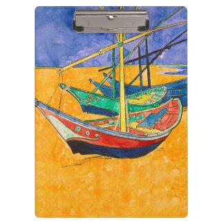 Van Gogh Gemälde-berühmte Boote Klemmbrett