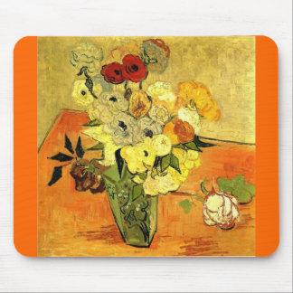 Van Gogh Gemälde-wunderliche Blüten-Blumen-Reben Mauspad