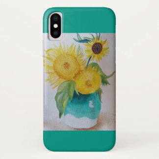 Van Gogh inspirierte Sonnenblume-Telefon-Kasten iPhone X Hülle