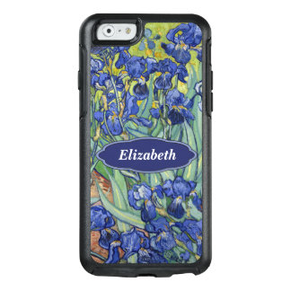 Van Gogh Irises personalisiertes Mit Blumenmonogr OtterBox iPhone 6/6s Hülle