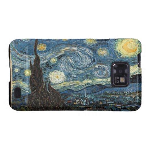 Van Gogh Kasten sternenklare NachtSamsung-Galaxie- Samsung Galaxy SII Hüllen