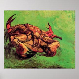 Van Gogh - Krabbe auf seiner Rückseite Plakatdrucke
