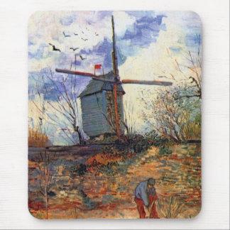 Van Gogh - La Le Moulin De Galette Windmühle Mousepad