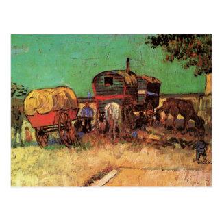 Van Gogh; Lager der Sinti und Roma mit Wohnwagen Postkarte