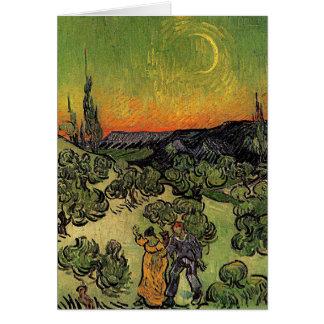 """Van Gogh """"Landschaft mit gehender"""" Karte der Paare"""