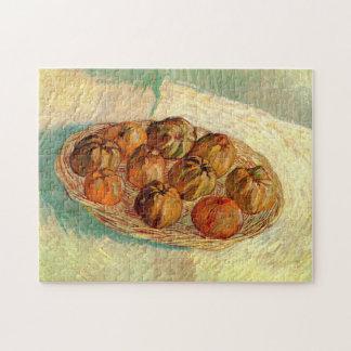 Van Gogh Leben-Korb-Apfel-Vintage feine Kunst noch Puzzle