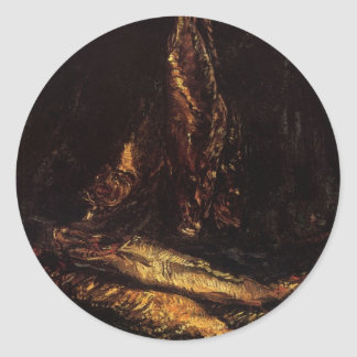 Van Gogh Leben noch mit Bücklings-Vintager feiner Runder Aufkleber