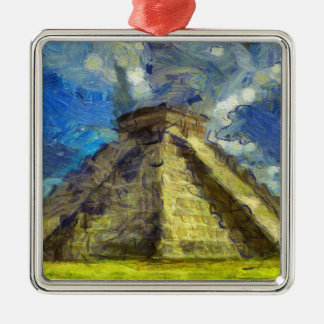 Van Gogh Mexiko Quadratisches Silberfarbenes Ornament