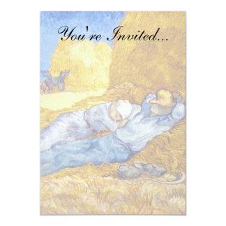 Van Gogh - Mittags-Erholung von der Arbeit 12,7 X 17,8 Cm Einladungskarte