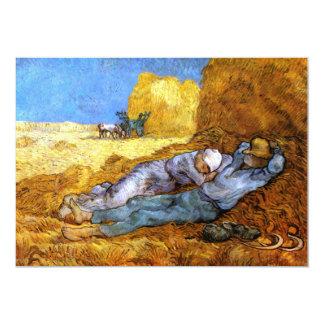 Van Gogh: Mittags-Erholung von der Arbeit 12,7 X 17,8 Cm Einladungskarte