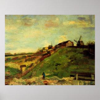 Van Gogh Montmartre: Steinbruch, die Mühlen, Poster