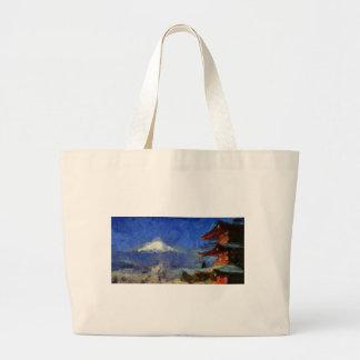 Van Gogh Mt-Fuji-Japan Jumbo Stoffbeutel