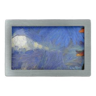 Van Gogh Mt-Fuji-Japan Rechteckige Gürtelschnallen