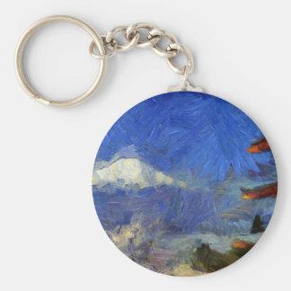 Van Gogh Mt-Fuji-Japan Schlüsselanhänger