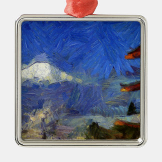 Van Gogh Mt-Fuji-Japan Silbernes Ornament