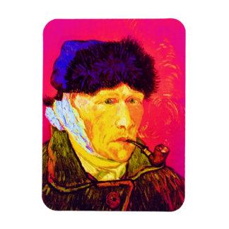 Van Gogh - Pop-Kunst-Selbstporträt mit dem Recchteckiger Magnet