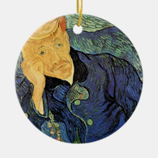Van Gogh; Porträt von Doktor Gachet, Vintage Kunst Keramik Ornament